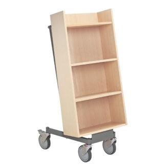 carro libros biblioteca