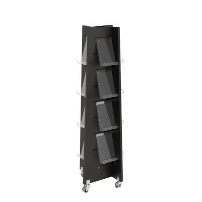 Torre de exposición biblioteca Quattro MIDI, negro